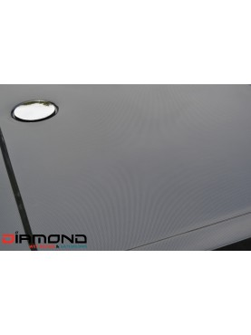 Diamond 35mm 700 x 700 Square Black Carbon Fibre Effect 40mm Square Stone Shower Tray with Corner Waste - DC7070S