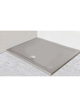 Diamond 35mm 1700 x 800 Silver Shimmer Rectangle Stone Shower Tray with Central Waste - DS1780R