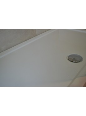 Diamond 35mm 1200 x 900 White Rectangle Stone Shower Tray with Central Waste - DW1290R