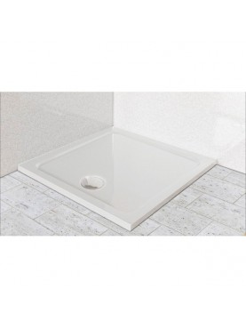 Diamond 35mm 1700 x 900 White Rectangle Stone Shower Tray with Central Waste - DW1790R