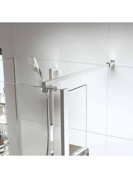 Roman Select 1400mm WALK IN SHOWER SCREEN WET ROOM GLASS PANEL WITH 8mm Ultra Care