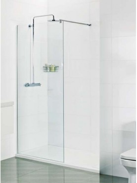 Roman Select 1400mm WALK IN SHOWER SCREEN WET ROOM GLASS PANEL WITH 10mm Ultra Care