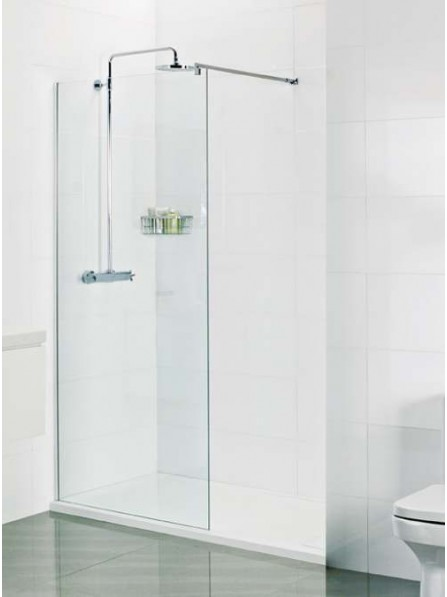 Roman Select 800mm WALK IN SHOWER SCREEN WET ROOM GLASS PANEL WITH 10mm Ultra Care