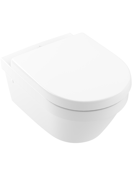 Villeroy & Boch Architectura  Wall Mounted Rimless Pan Complete CW SC Seat White - 4694HR01