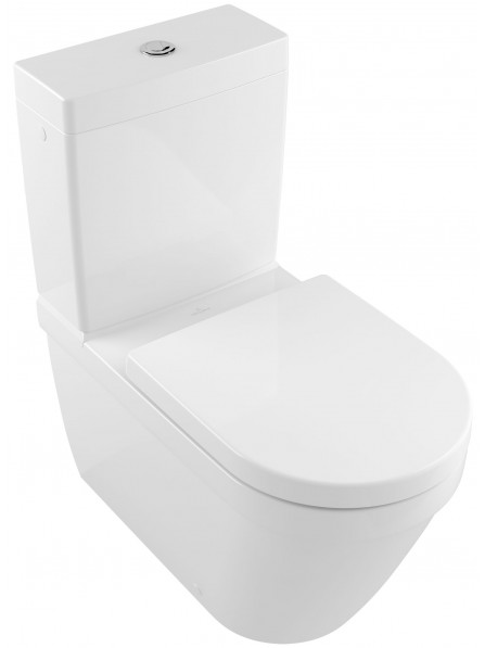 Villeroy & Boch Architectura Floor Standing Back To Wall Close Coupled Rimless Pan White - 5691R001