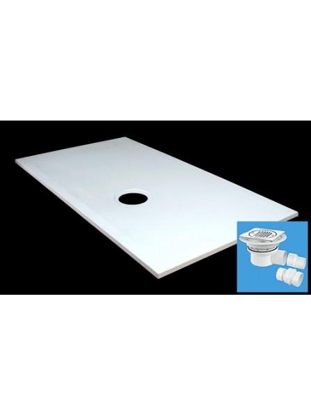 Diamond 1700 x 700 Rectangular Wet Room Tray for Tiled Floors - D08RT2