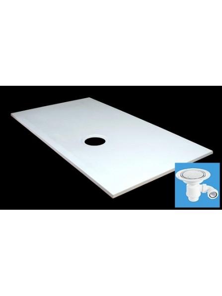 Diamond 1150 x 700 Rectangular Wet Room Tray for Vinyl Non Slip Flooring - D04RV2