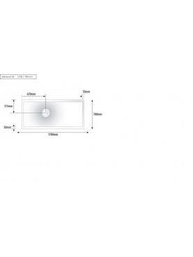 Diamond 1700 x 700 Rectangle Wet Room Complete Shower Tray Base Kit - D08RTC